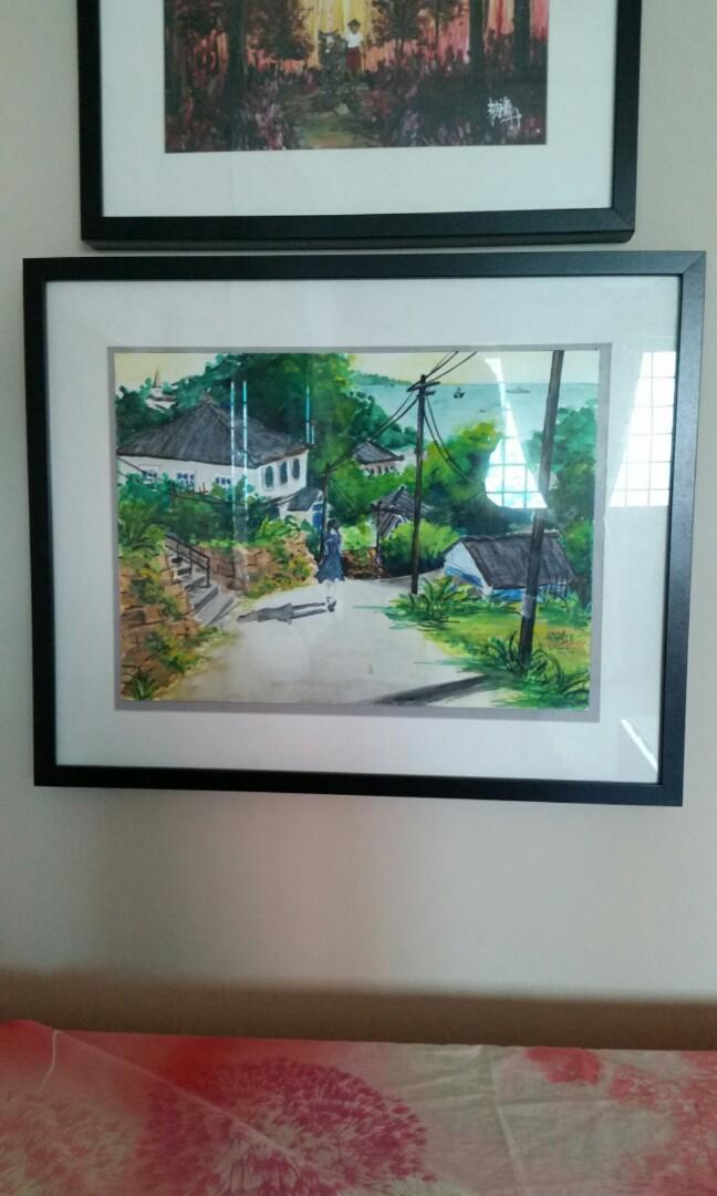 Kek Lek Dong Original Oil Painting On Canvas Paper Design