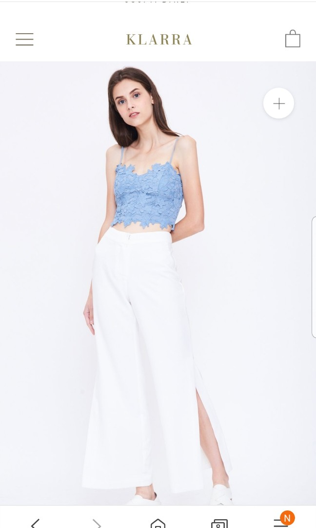 2b4eda07ae32d Klarra Crop Lace Bustier, Women's Fashion, Clothes, Tops on Carousell