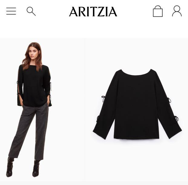 Make an offer-Like new Aritzia Wilfred pozzi blouse - size L - pale pink