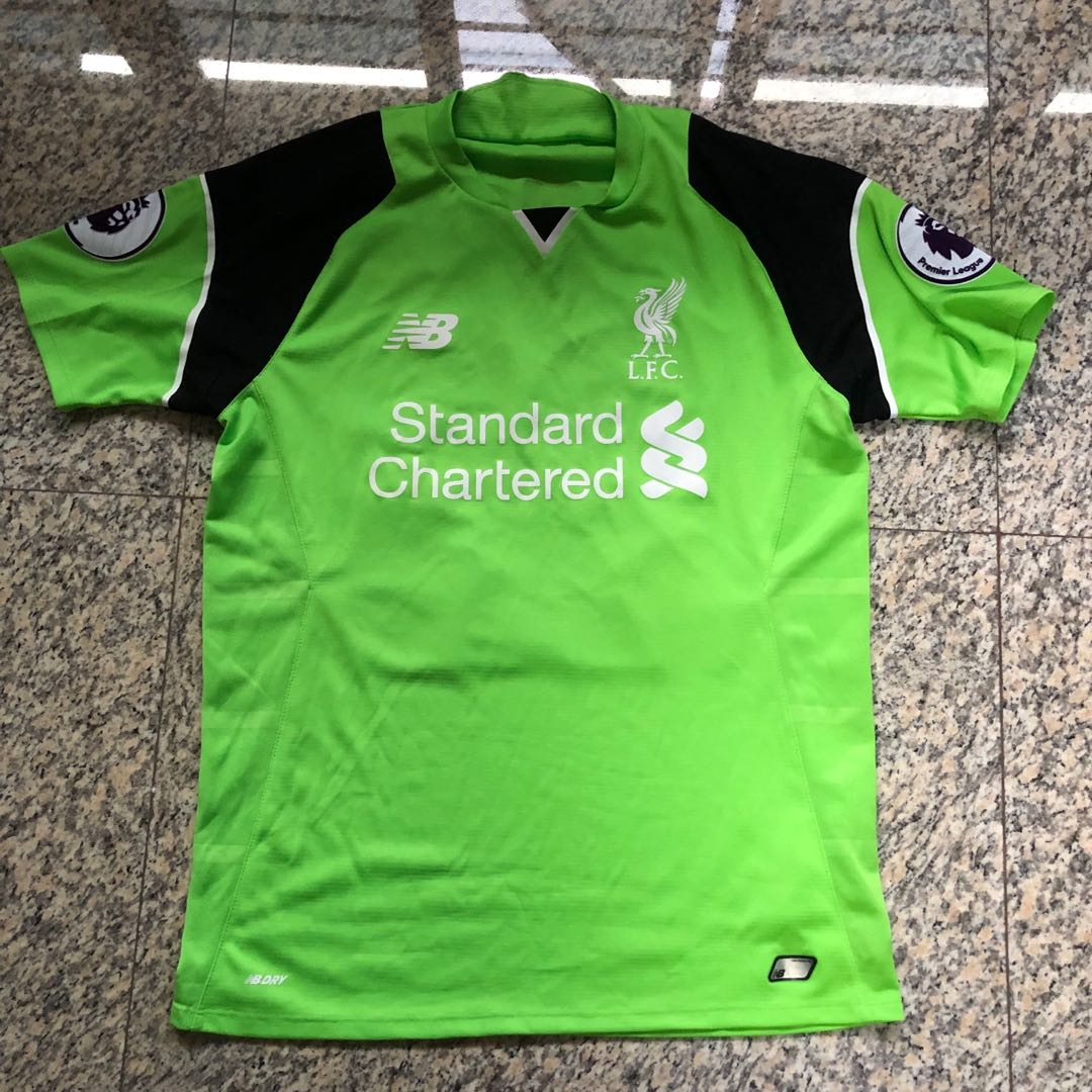 0424ed5c727 Liverpool FC 2016/17 Goalkeeper Jersey, Sports, Sports Apparel on Carousell
