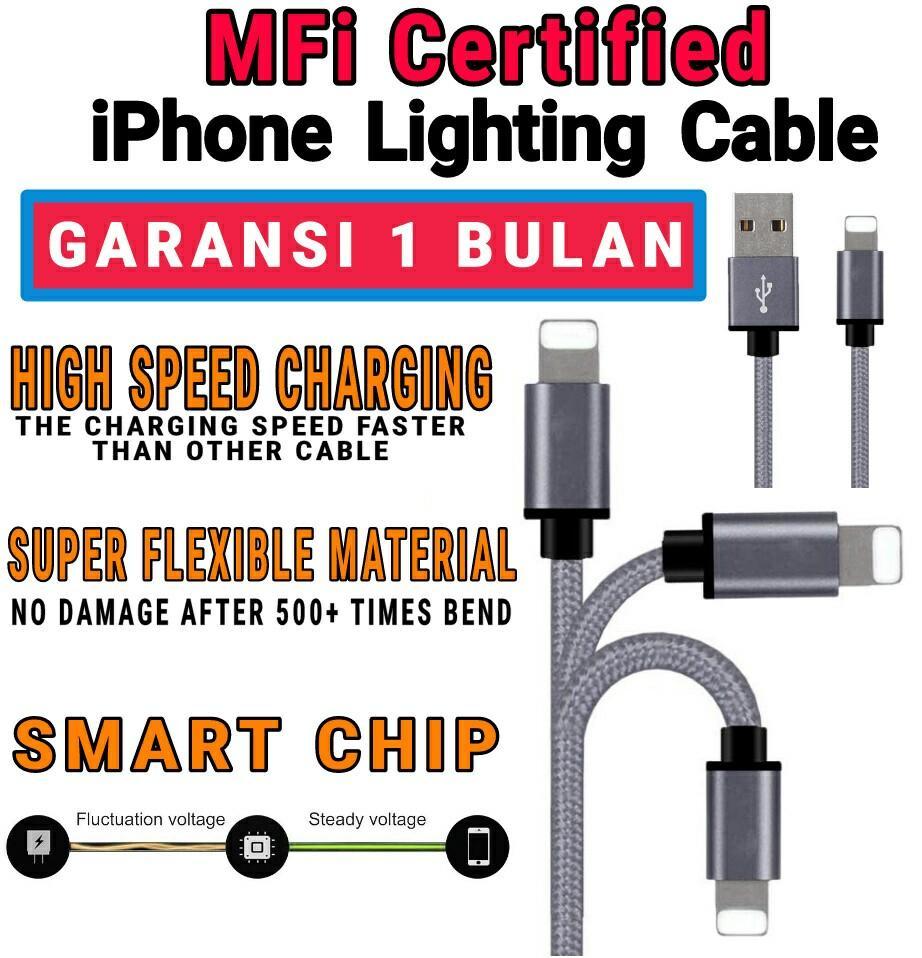 MFI CERTIFIED kabel data charge lighting iphone