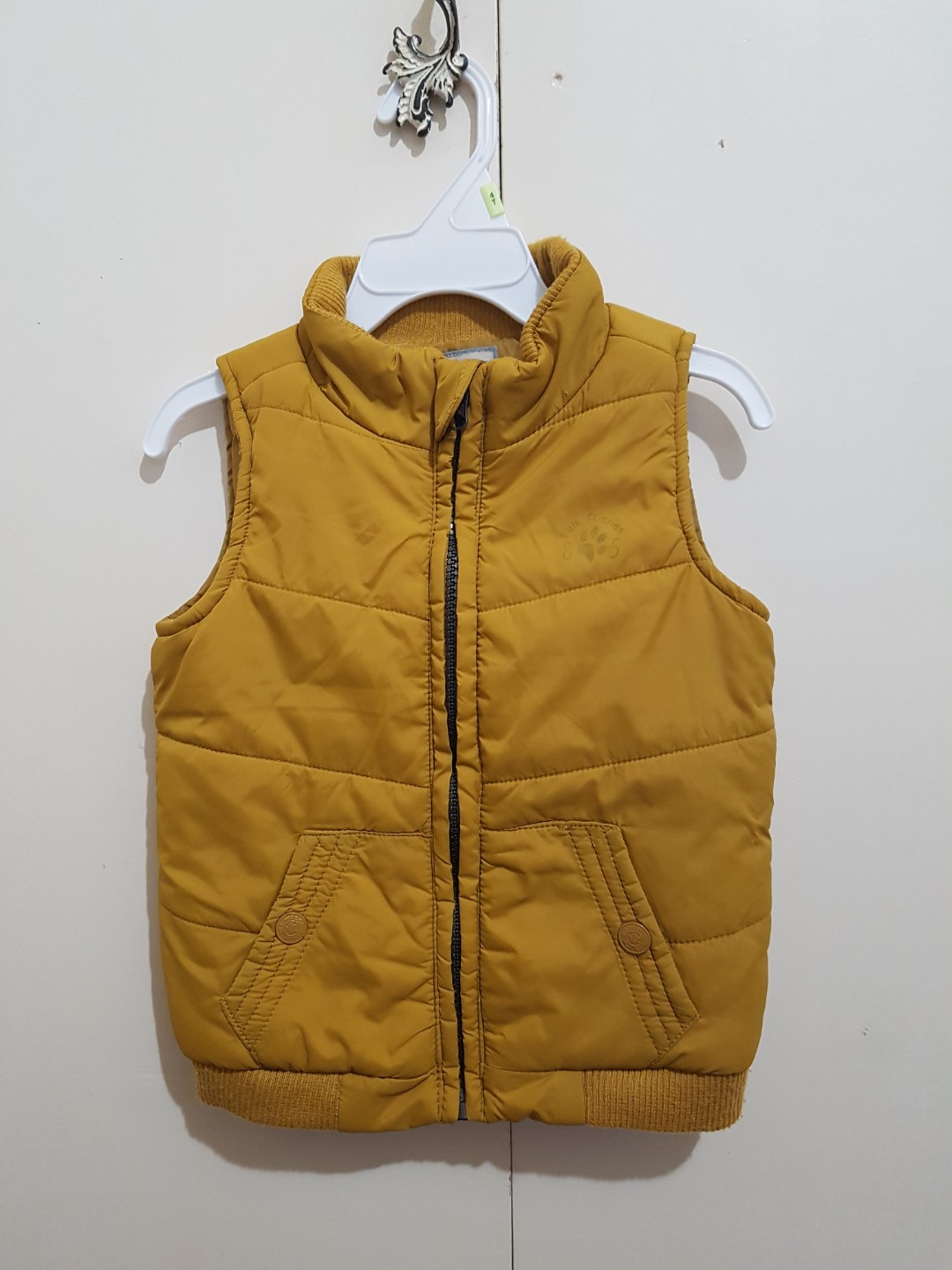 840ca91d2884 Mustard yellow bubble vest for 18-24 months old boy girl