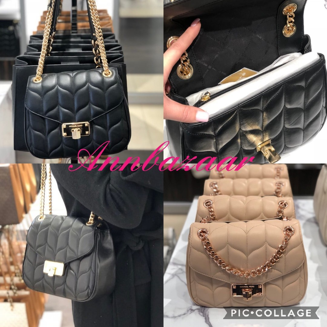 473b01986a7d Michael Kors Peyton Large Convertible Shoulder Flap Bag (100% Authentic),  Luxury, Bags & Wallets, Sling Bags on Carousell