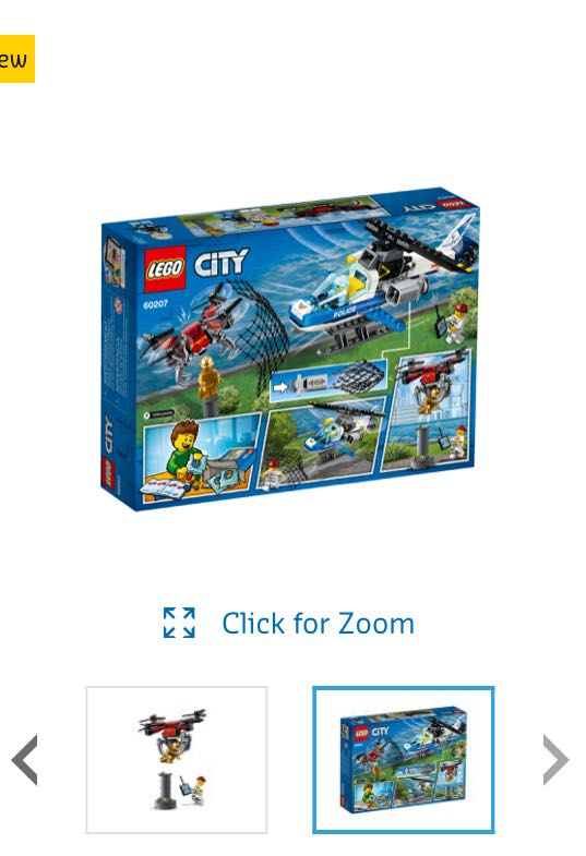 New Lego City Sky Police Drone Chase 60207 Toys Games Bricks