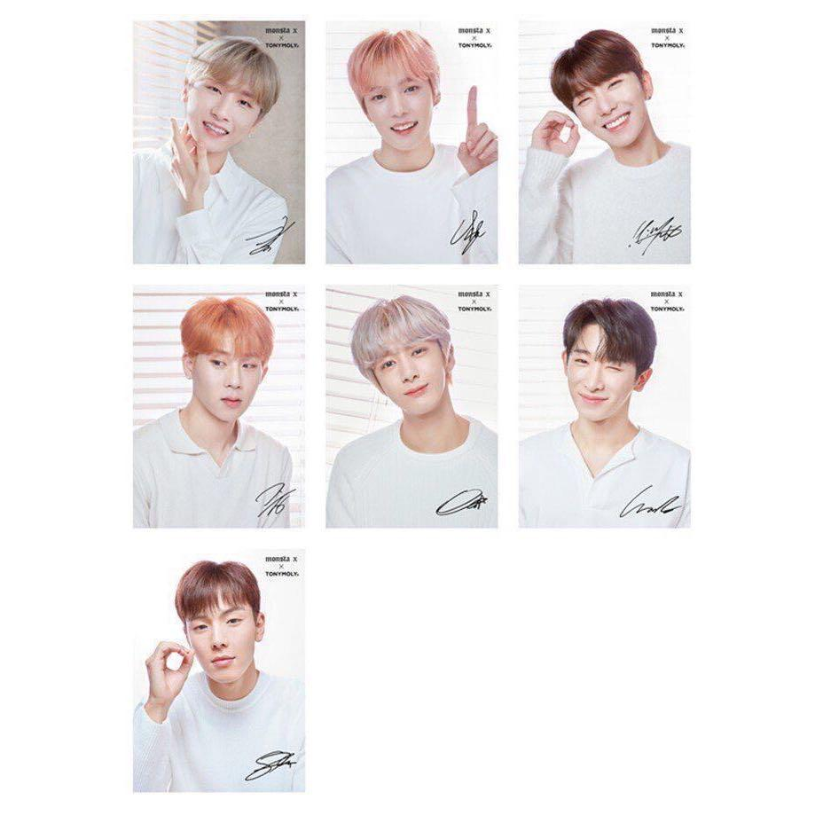 🔥NEW Monsta X x TONYMOLY Signed Posters