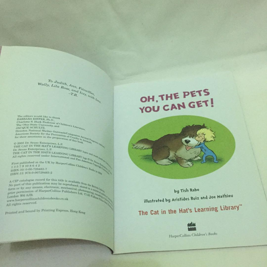 Oh The Pets You Can Get - Cat In the Hat