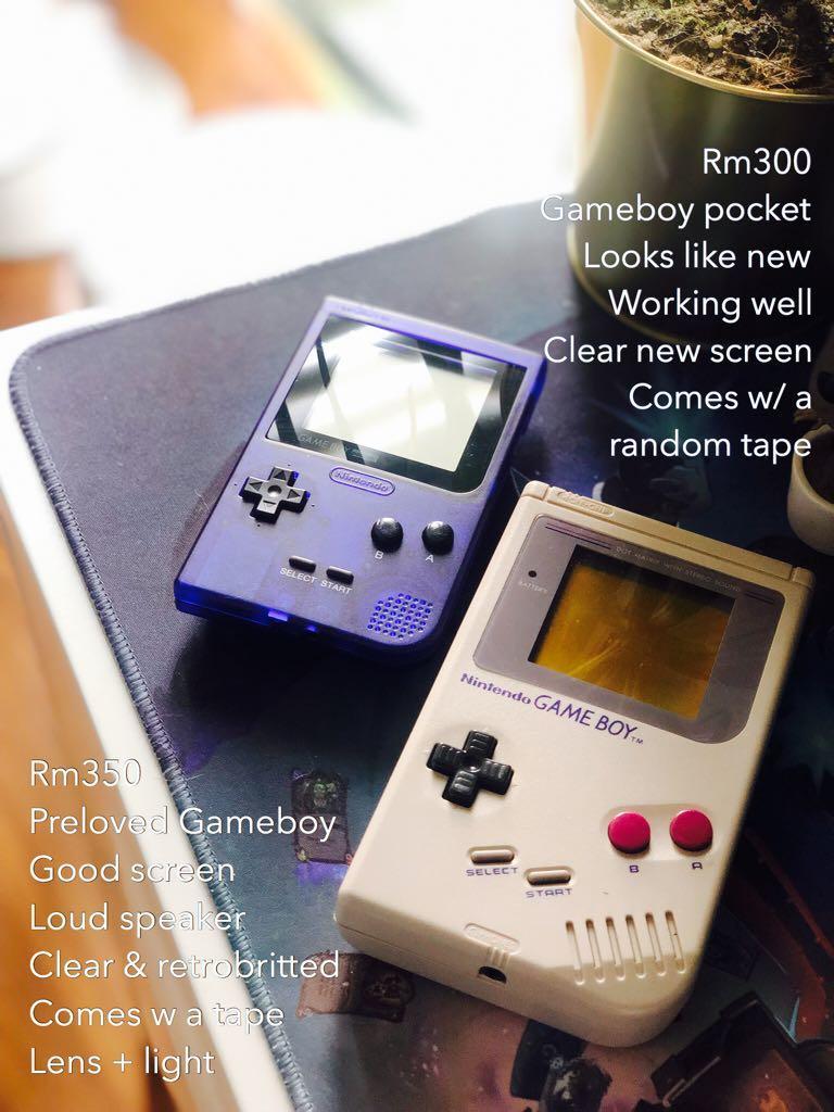 Original Dmg 101 Gameboy and Gameboy pocket