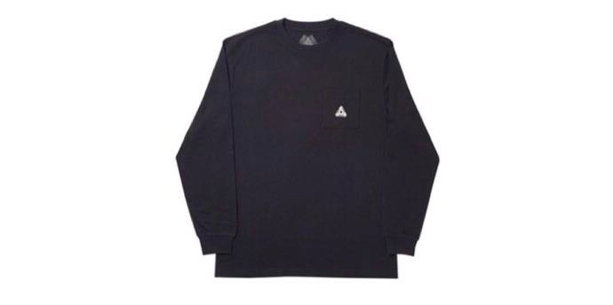 57bfb12a PALACE SS19 SOFAR POCKET LONGSLEEVE BLACK, Men's Fashion, Clothes, Tops on  Carousell