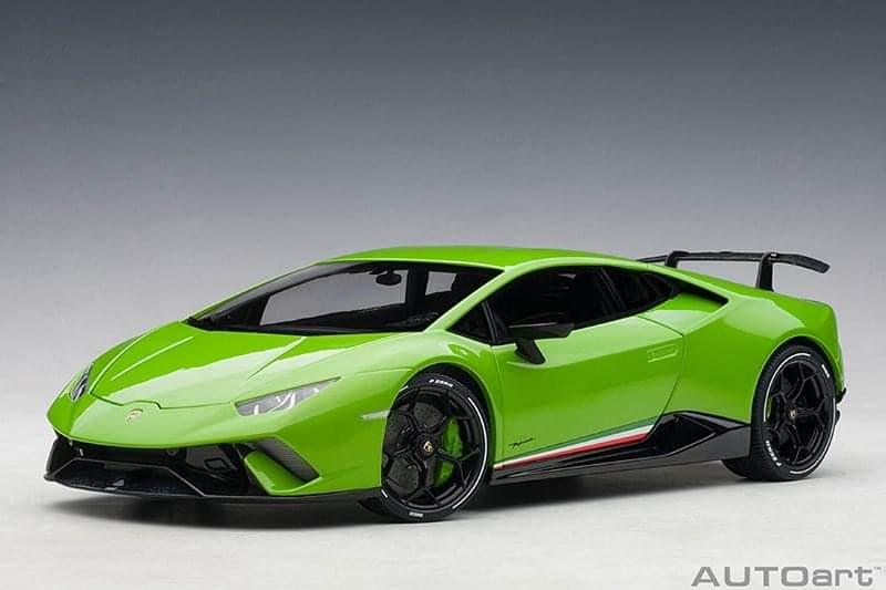 Po 1 18 Autoart Lamborghini Huracan Performante Green White