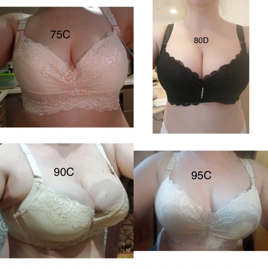 762d94139 (PO) Thin plus size bra cup adjustable push up side gathering furu mm Large  c cup e cup women s