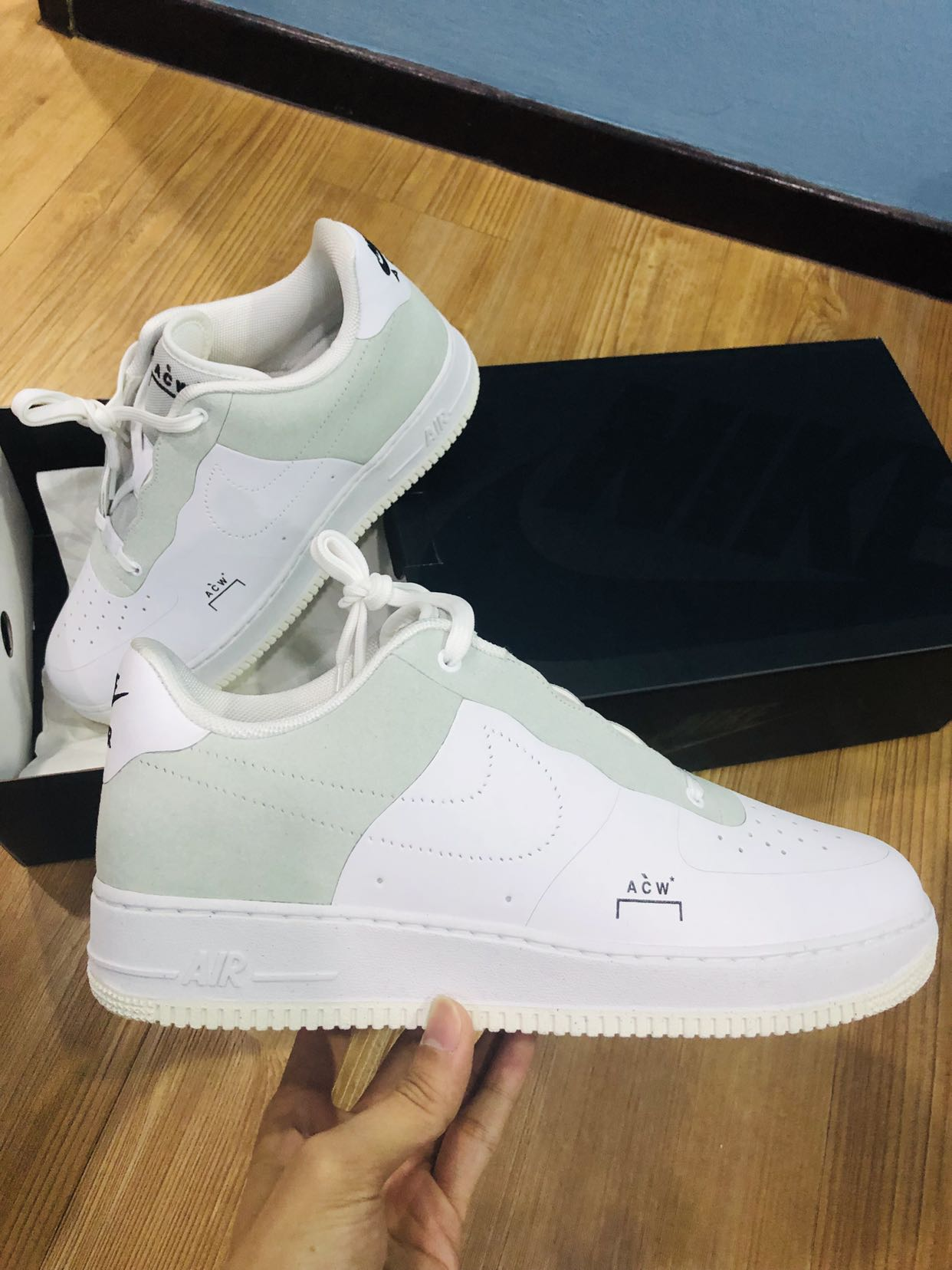5cab9244d5dd Price Drop! ACW A Cold Wall Nike Air Force 1 Low White (AF 1) UK 11