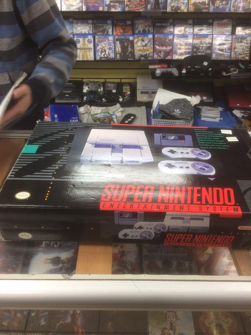 *price drop* Super Nintendo two controllers with Mario game!