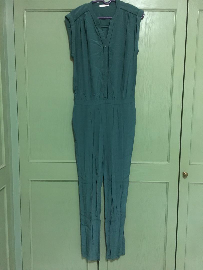 c51f22e511baf1 Promod Green Jumpsuit, Women's Fashion, Clothes, Rompers & Jumpsuits ...
