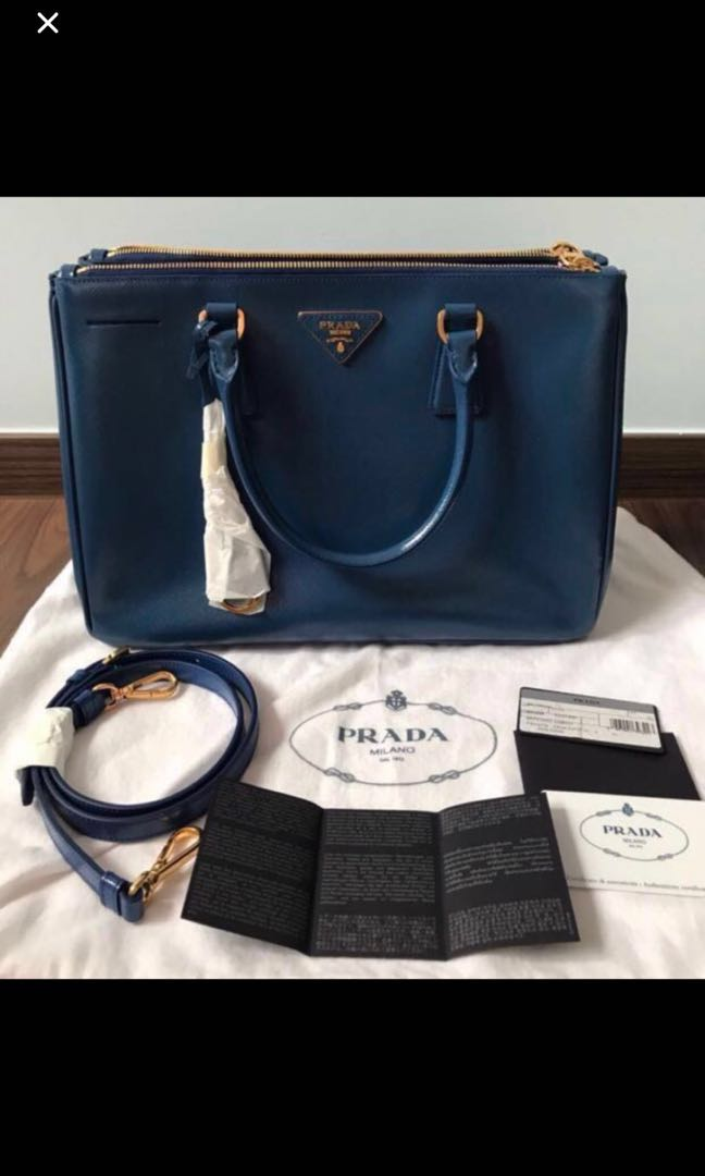 6f0a047876 ️Promotion - Brand new Prada Saffiano Lux Large Tote Bag (Blue ...