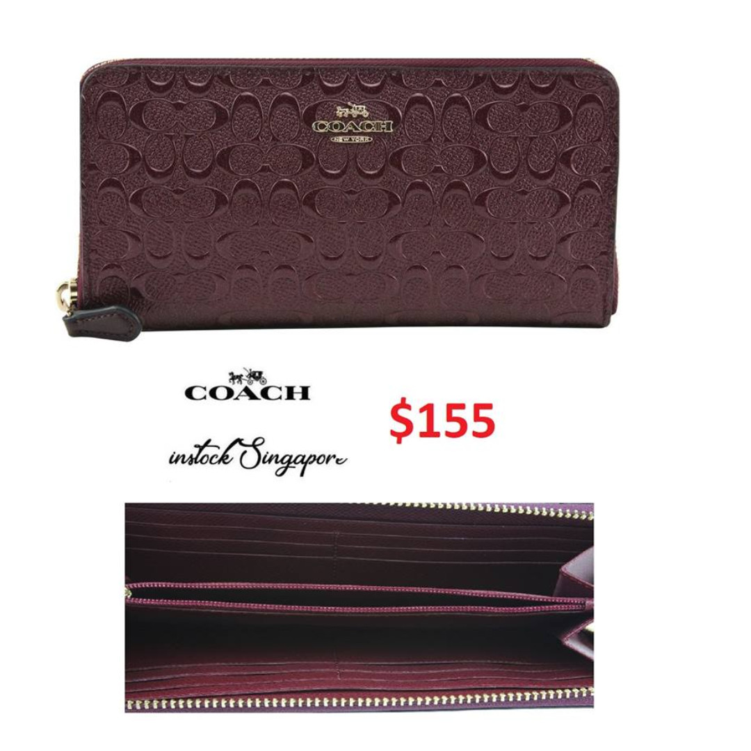 3924f6564f READY STOCK authentic new Coach Accordion Zip Wallet in Signature ...