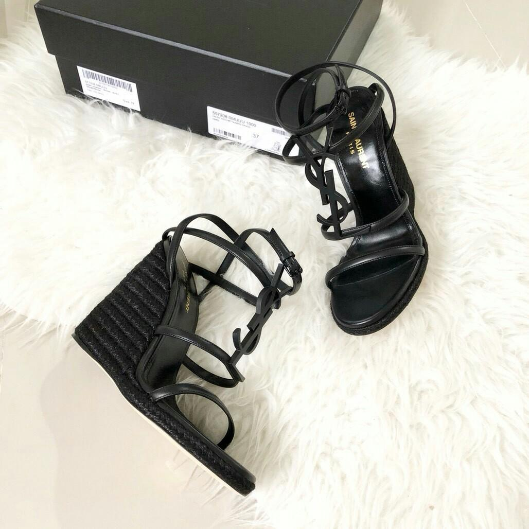 READY STOCK YSL Opyum 105 Wedges Size 35 36 36.5 37.5 38 38.5 39