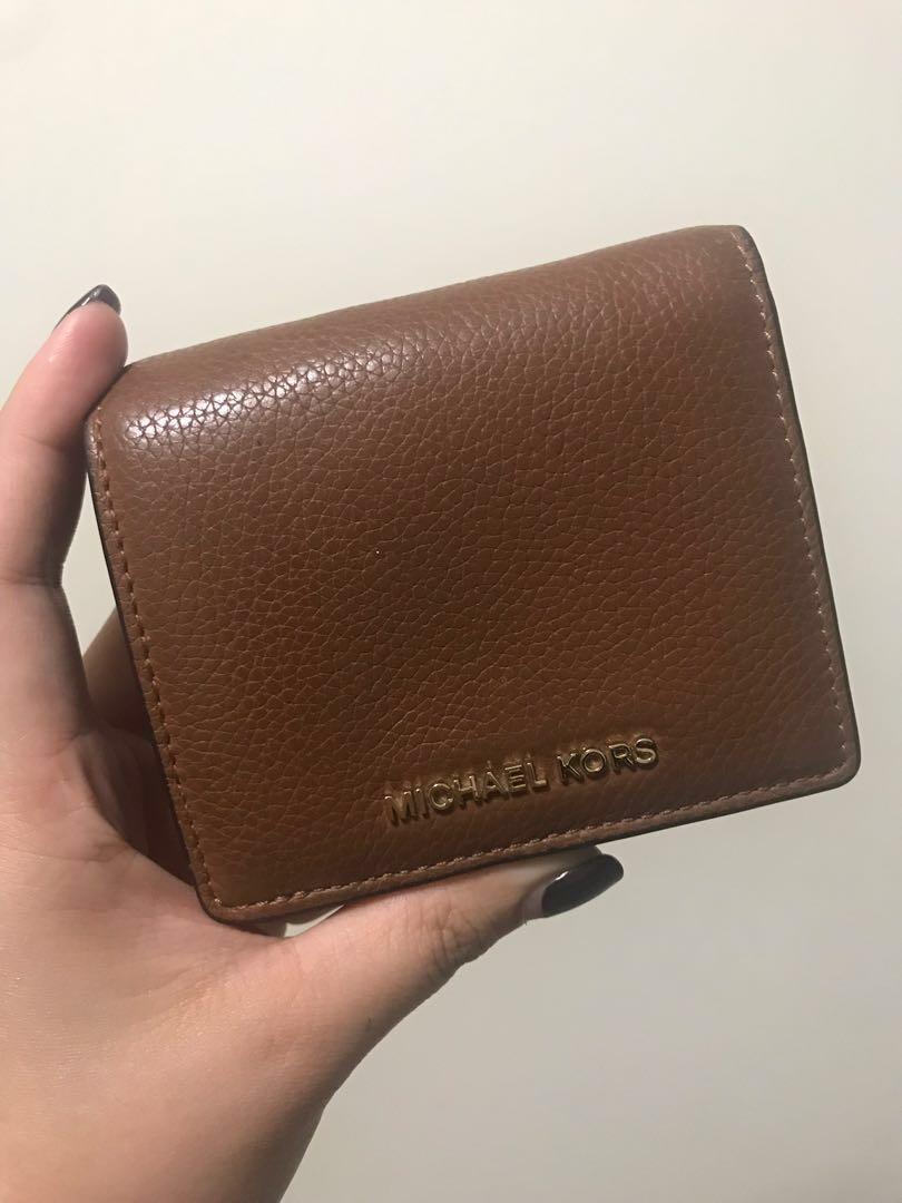 a7baf839474d REDUCED PRICE) Michael Kors Mercer Leather Card Case Wallet