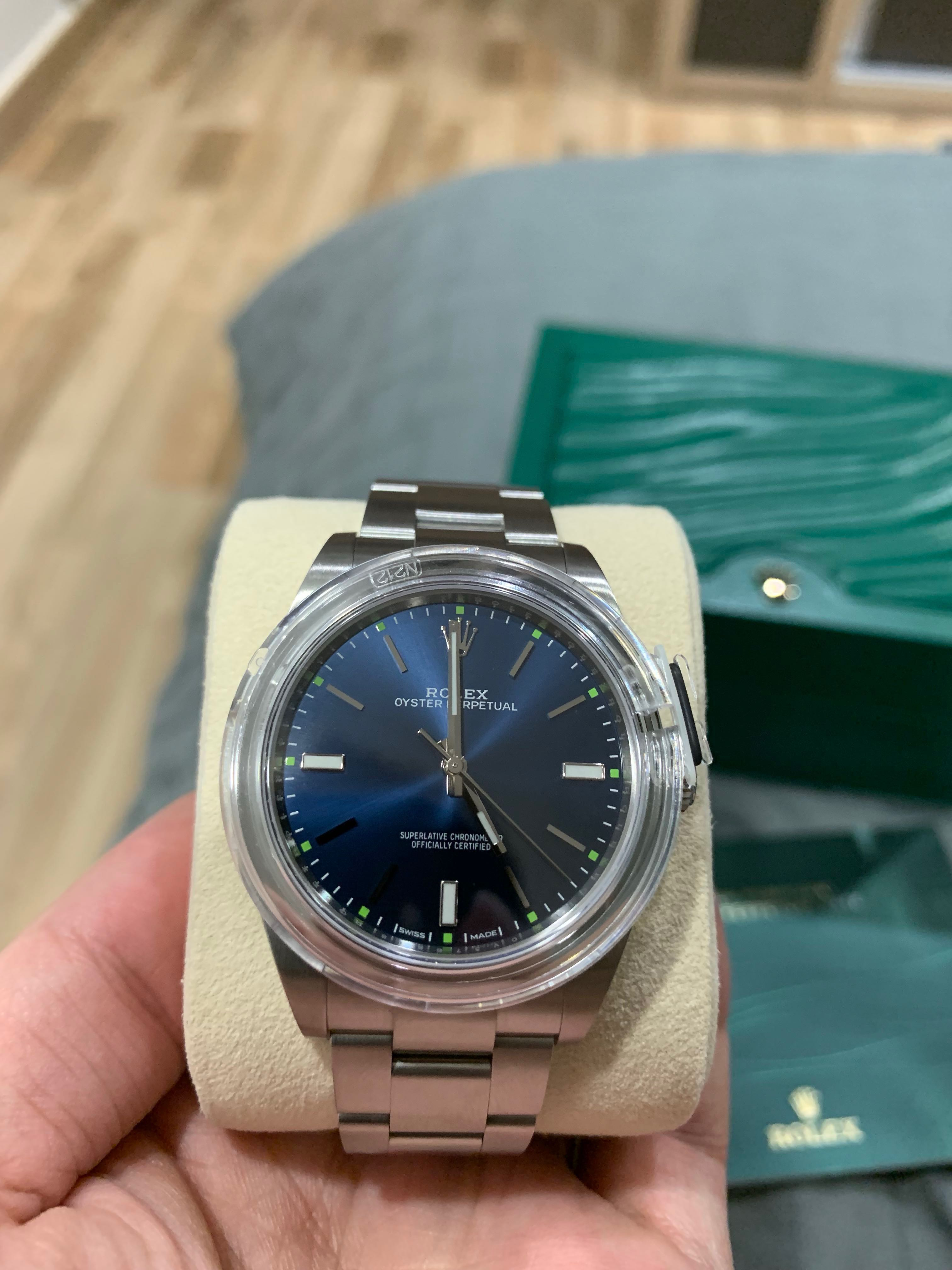 Rolex Oyster Perpetual 39 (Sunburst Blue)