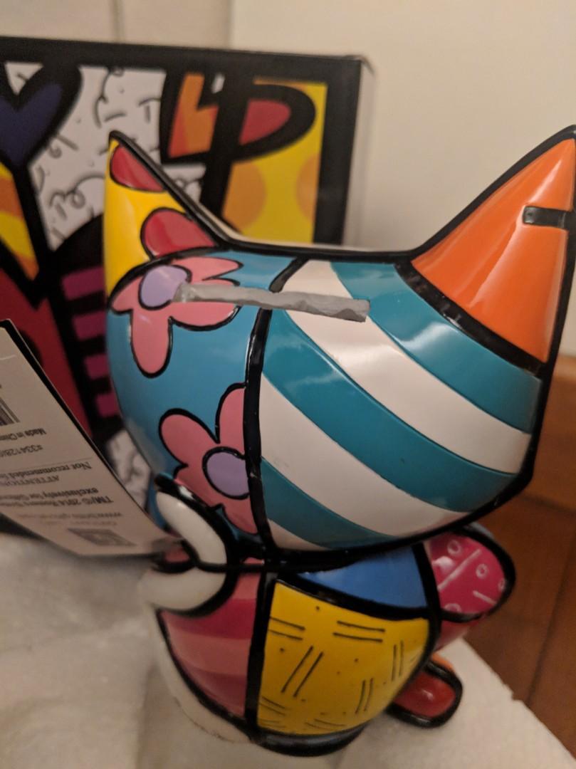 Romero Britto Cat Design Money Bank by Romero Britto