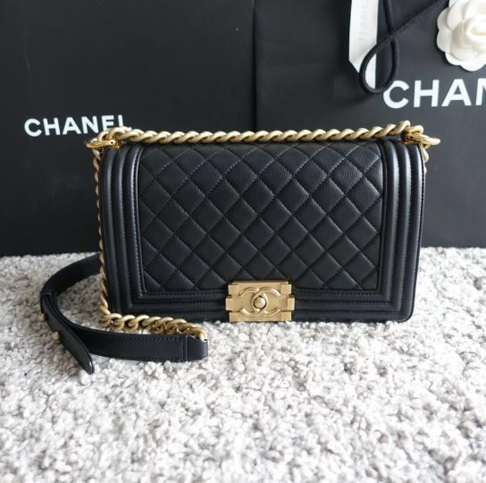 0eef6841db4d ❗ (SALE) #24 LN Chanel Caviar Boy Old Medium, Luxury, Bags ...