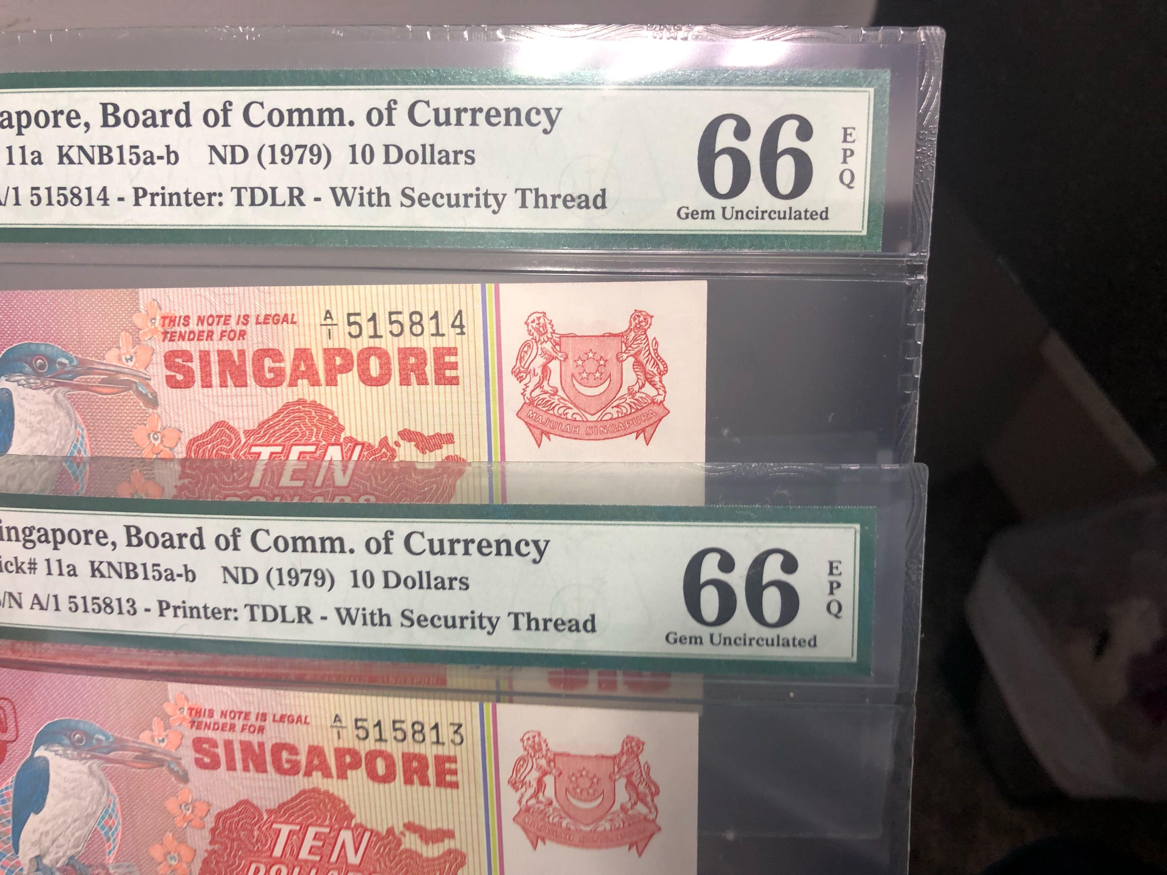 Singapore P-12 20 Dollars 1979 PMG 67 EPQ