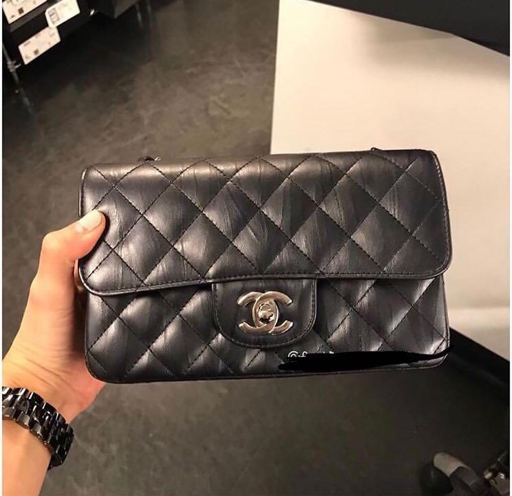 7b5745c1495fd5 SOLD) LNIB Chanel Mini Rectangular 17K Charcoal Black #24, Luxury ...