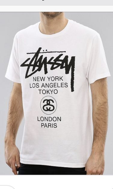 fa2463fa Stussy T Shirt, Men's Fashion, Clothes, Tops on Carousell