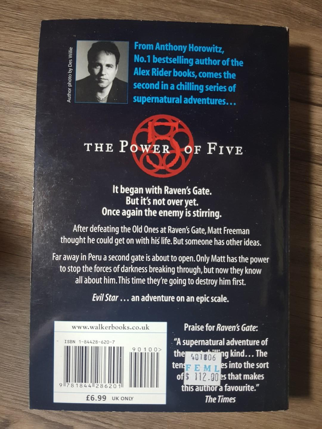 The Power of 5: Evil Star by Anthony Horowitz Book 2