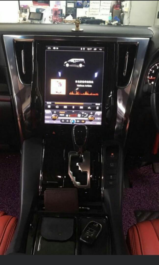 Toyota alphard / vellfire android headunit player