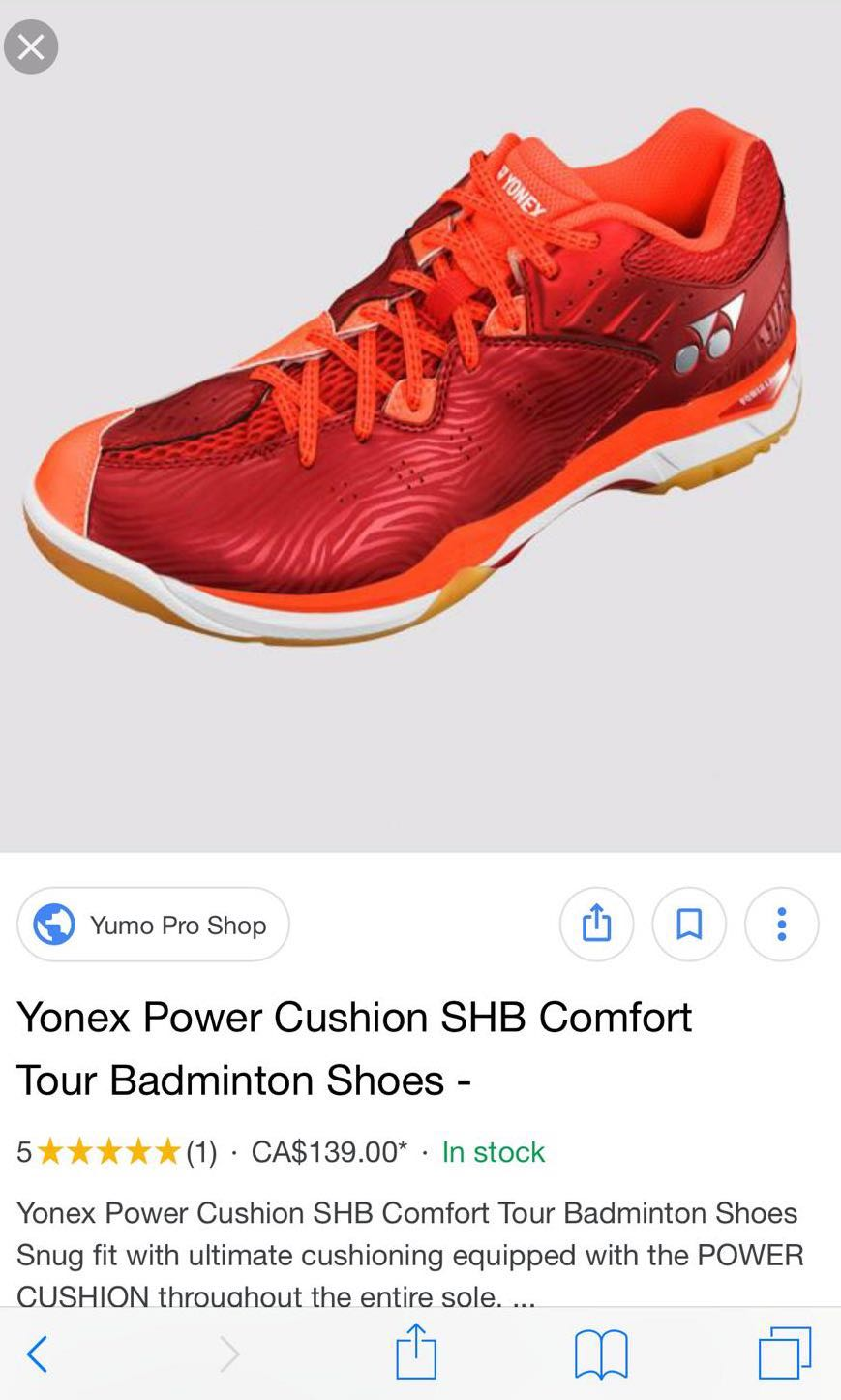 8662a555dcc Yonex Power Cushion SHB Comfort Tour Badminton Shoes, Sports, Sports ...