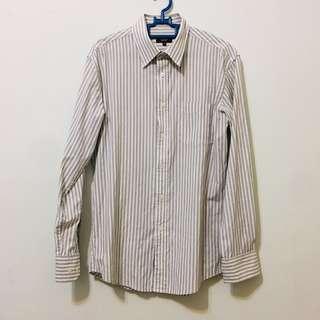 SEED Long Sleeves Stripes Formal Shirt