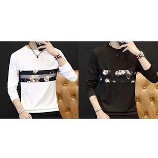 🔥Flower T-shirt Long Sleeves Men Women Korean Fashion🔥