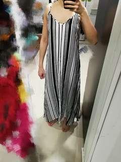 Cotton on adjustable straps Stripes Dress