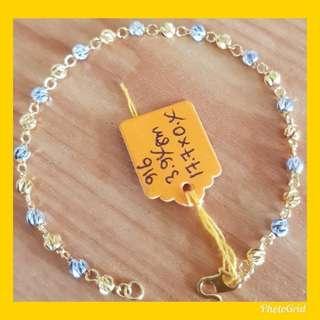 916 Gold Bracelet 2tone