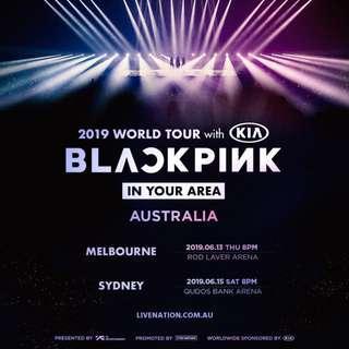 BLACKPINK MELBOURNE CONCERT - 2x B Reserve Tickets