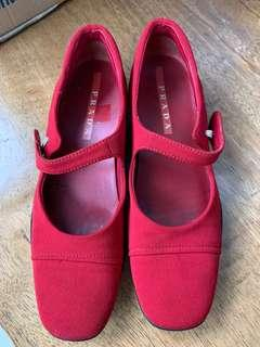 Prada Red Flats Authentic
