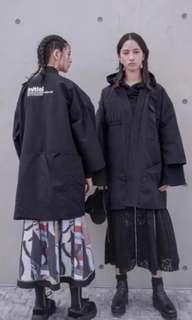 Initial 2018 黑色外套 kimono
