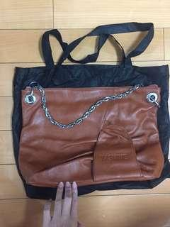 🚚 YASMINE 咖啡色 鏈背包 側背包 肩背包