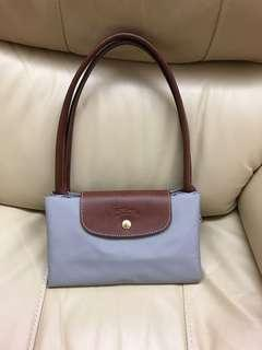 Longchamp Bag (長柄 大size 灰色)