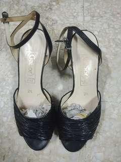 Leather Kitten Heels Sandal