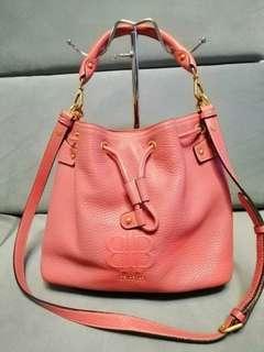 Coral Pink Bean Pole 2 Way Bag