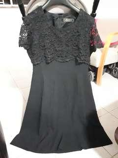 Black Dress with outer layered laced