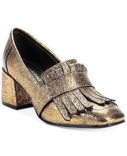 🚚 Kenneth Cole Reaction Gold pumps rare!