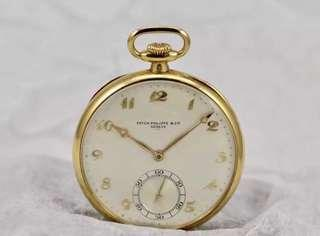 Patek Philippe 18K Carat Solid Yellow Gold Pocket Watch Art Deco Rare Highly Collectible - Extract from the Archives, Folio, Pouch, Cloth, Gift Bag -Calibre 819600 🥂