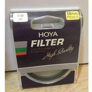 Hoya filter 58mm six star 星鏡 星光鏡 六星