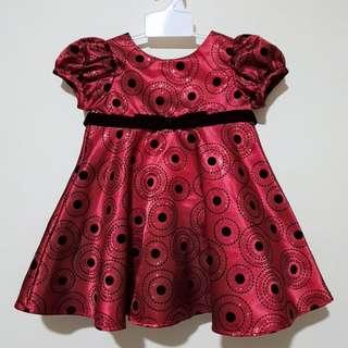 Baby Red Party Dress 12m