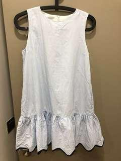 Baby Blue with White Strips Babydoll Dress