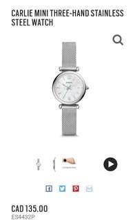 Fossil Watch Mini Carlie BNWT