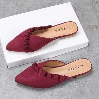 Maroon Red Flats Shoes