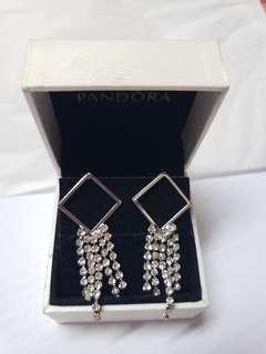 925 Silver diamond long earrings 純銀閃石耳環 no box